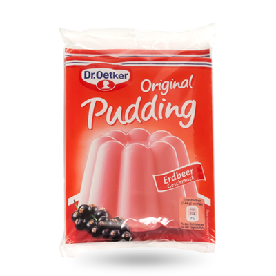 Dr Oetker Pudding Mix Erdbeer Strawberry 9 x (3x37g)