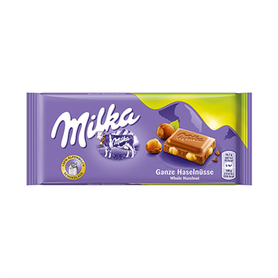 Milka Whole Hazelnut Choc 17 x 100g