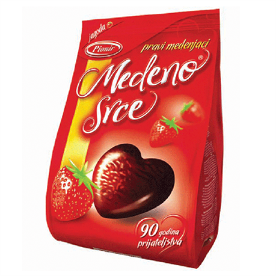 Pionir Medeno Srce Honey Heart Strawberry 24 x 150g