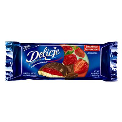 Wedel Delicje Biscuit Strawberry 24 x 147g