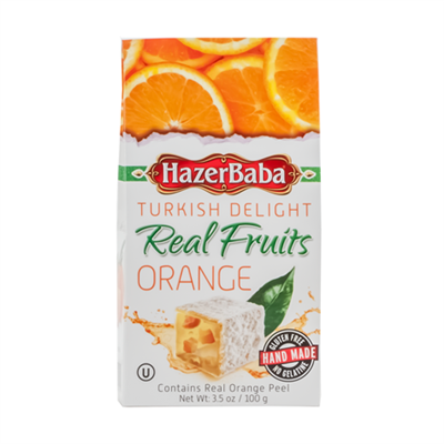 Hazerbaba Turkish Delight Orange 4 x (6x100g)