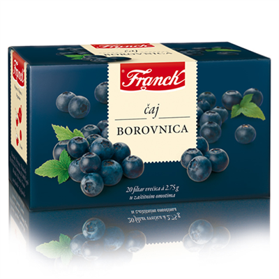 Franck Tea Borovnica Blueberry 20 x 55g