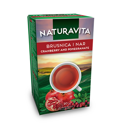 Naturavita Tea Cranberry & Pomegranate 12 x 46g