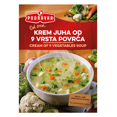 Podravka Cream of 9 Vegetable Soup 19 x 45g