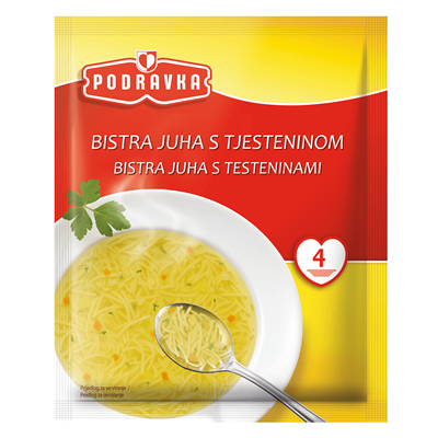 Podravka Bistra Juha Clear Soup with Pasta 16 x 45g