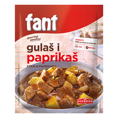 Podravka Fant for Gulash & Paprikash 22 x 65g