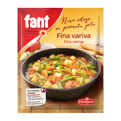 Podravka Fant Fina Variva Vegetable Stew 26 x 40g