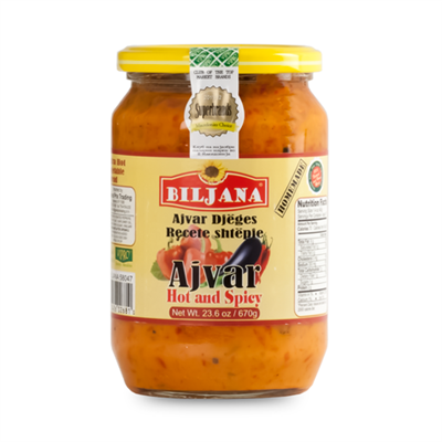 Biljana Shtepiake Ajver Extra Hot and Spicy 12 x 670g