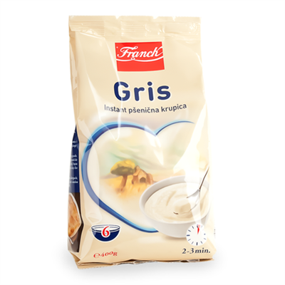 Franck Gris Cream of Wheat 24 x 400g bag