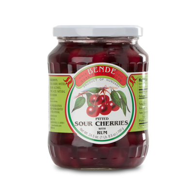 Bende Pitted Sour Cherries with Rum 12 x 680g
