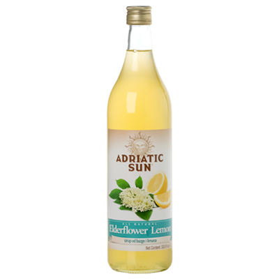 Adriatic Sun Elderflower Lemon Syrup 12 x 1L