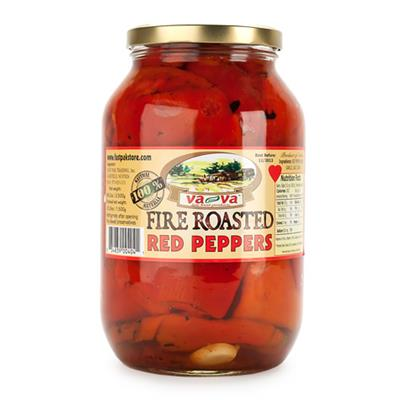 Vava Fire Roasted Red Peppers w/Garlic 6 x 2350g