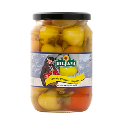 Biljana Tomato Pepper Hot 12 x 680g