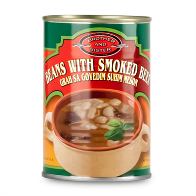 B&S Grah Suho Meso Bean Soup with Smoked Beef 24 x 425g