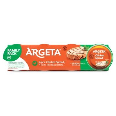 Argeta Chicken Spread Family Pack 12 x (4x95g)