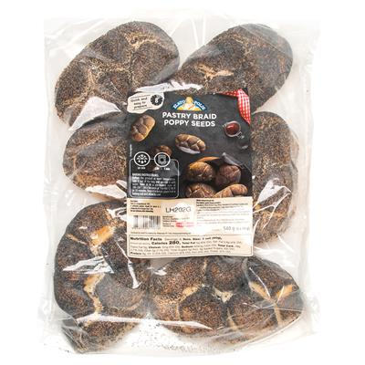 Zito Braided Roll Poppy Seed 8 x (6x90g)