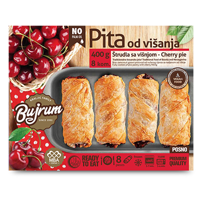 Bujrum Fully Cooked Burek with Cherry Fill 6 x 400g
