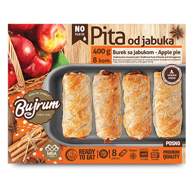 Bujrum Fully Cooked Burek with Apple Fill 6 x 400g