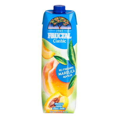 Fructal Classic Marelica Apricot Drink 12 x 1L