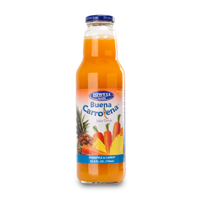 Lowell Buena Carrotena Pineapple & Carrot Juice 8 x 750ml