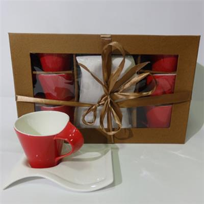 Coffee Service Set 12pc 180ml HYT047 Red
