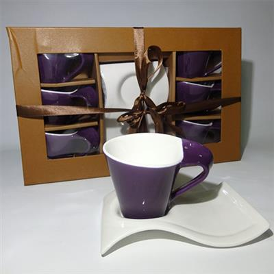 Coffee Service Set 12pc 180ml HYT047 Violet
